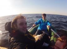 Заплыв на Панське и через Днепр
