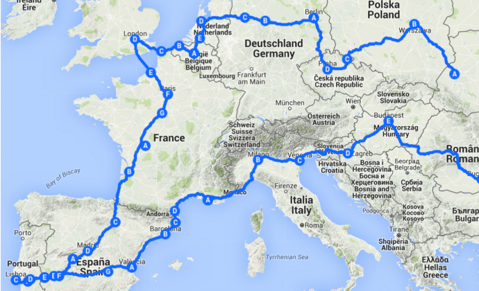 Через Европу на велосипеде